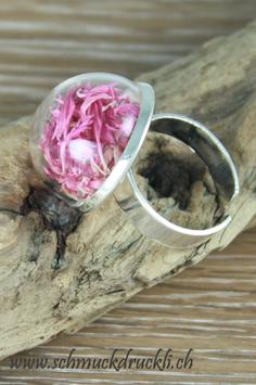 293 Ring klein mit Kornblumen pink