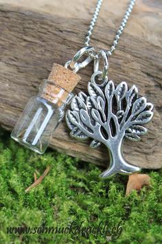 245 Mini Fläschchen mit echten Pusteblumen / Lebensbaum