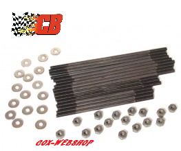 Set de 16 goujons de culasses en 8mm pour double admission en chromoly CBperf