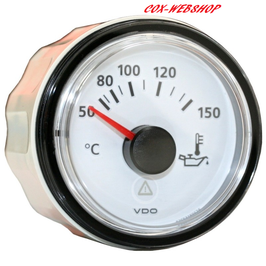 Manomètre de température d'huile 0-150°C fond blanc