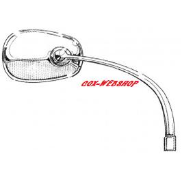 Rétroviseur oval chromé droit pour coccinelle 8/50->7/67
