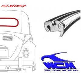 Joint de lunette arrière pour moulure métallique WCM pour cox cabriolet