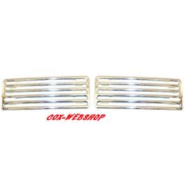 Set de 2 grilles de capot arrière chromé pour berline/cabriolet <-7/71 et 1302
