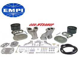 Tringlerie EMPI complète avec tringlerie, filtres et pipes déportées pour alignement des carbus