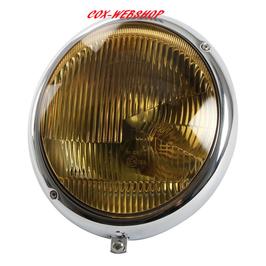 Phare pour cox <-7/67 avec verre jaune pour ampoule CE