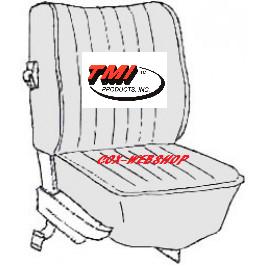kit housse de siège avant et arrière en simili cuir pour coccinelle de 73