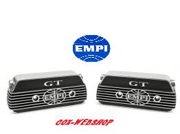 """Set  de 2 caches culbuteurs alu siglés """"EMPI GT"""""""