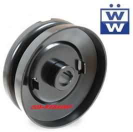 Poulie de dynamo 6 volts pour moteur pied moulé <-60 (diam. 100mm)