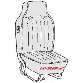Kit housse de siège pour coccinelle cabriolet de 68->69