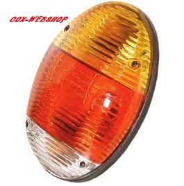 Feu arrière gauche ou droit complet 1303 et 1200 8/73-> plat « style new beetle » (sans marquage CE)