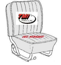 Kit housse de siège en simili cuir tréssé pour cox de 68->69