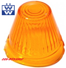 Glace de remplacement orange de clignotant obus d'aile