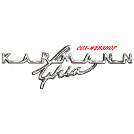 Sigle «karmann ghia» de tableau de bord 67->74
