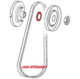 Rondelle pour poulie dynamo (ép 0,5mm)