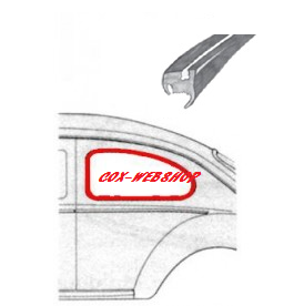 joint de vitre latérale préformé 53->7/64  qualité allemande