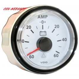 Ampèremètre -60/+60 amp fond blanc