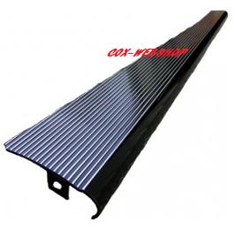 Set de 2 marchepieds en aluminium noirs avec stries polies