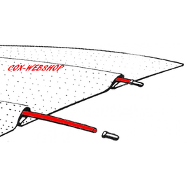"""set de 5 baleines de ciel de toit (longueur 48"""", 122mm)"""