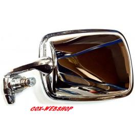Rétroviseur chromé pour cox 8/67-> à entourage de vitre blanc