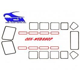 joint de vitre de toit pour combi split 21 ou 23 fenêtres de  55->67