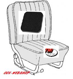 Kit housses de sièges avant et arrière noir en simili cuir lisse 58->64