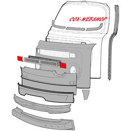 Set de 2 tôles bouche trous de clignotants pour combi 73-> (pour vieillir un combi de 73- en 68-72)