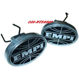Set de 2 caches trous de crics aluminium siglés EMPI