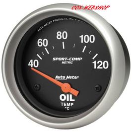 Manomètre de température d'huile diam. 67mm 40-120°