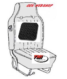 Kit housses de sièges avant et arrière noir tressé avec appuie tête incorporé