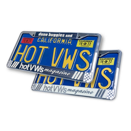 """1 Entourage de plaque arrière """"HOT VW'S"""" blanc"""