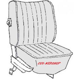kit housses de sièges pour cox cabriolet de 74->76