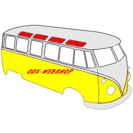 vitre de toit pour combi split 21 ou 23 fenêtres