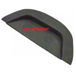 plage arrière en vinyl noir lisse pour cox (pré-percée pour enceinte)
