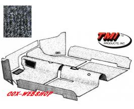 Kit moquette intérieur grise pour cox 58->68 ( sans caoutchouc pied)