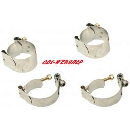 Set de 4 colliers inox pour barre stabilisatrice de train à pivots ou rotules