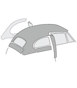 Ciel de toit en vinyl perforé pour coccinelle de 68->78