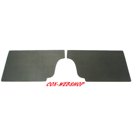 Set de 2 cartons noirs sous banquette arrière pour cox cabriolet de 50->59