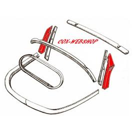 Montants verticaux exterieur gauche et droit pour coccinelle cabriolet de 61->7/64