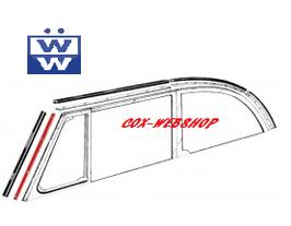 set de 2 inserts aluminium pour joint verticaux de baie de pare brise de 52->64
