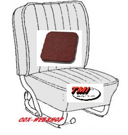 Kit housses de siègesn avant et arrière en simili cuir lisse rouge