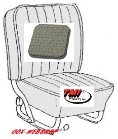 Kit housses de sièges avant & arrière gris clair en simili tréssé de 68->72