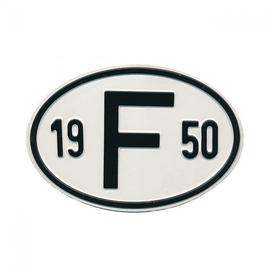 """Plaque """"F"""" millésime de 1950 à 1985"""