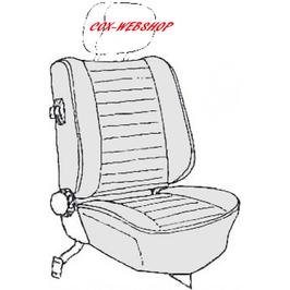 kit housses de sièges pour coccinelle cabriolet de 77->79