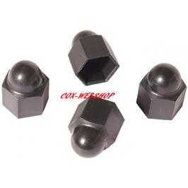 Set de 4 caches écrou de roue en plastique noir pour jantes «BIG»