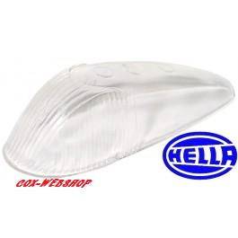 Glace de clignotant d'aile blanche de cox 8/58->7/63 HELLA