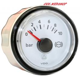 Manomètre de pression d'huile fond blanc