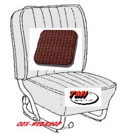 Kit housses de sièges avant et arrière rouge en simili cuir tréssé