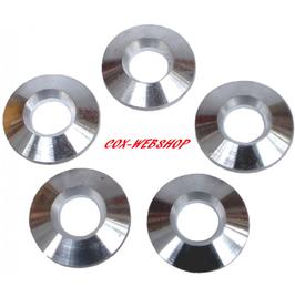 Set de 5 rondelles aluminium de centrage de jantes de type erco épaisseur 0,120