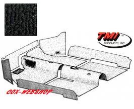 Kit moquette intérieur noire pour cox 56->58 (sans caoutchouc pose pied)
