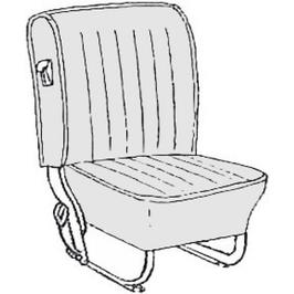 Kit housses de sièges pour coccinelle de 56-57 (smooth leatherette)